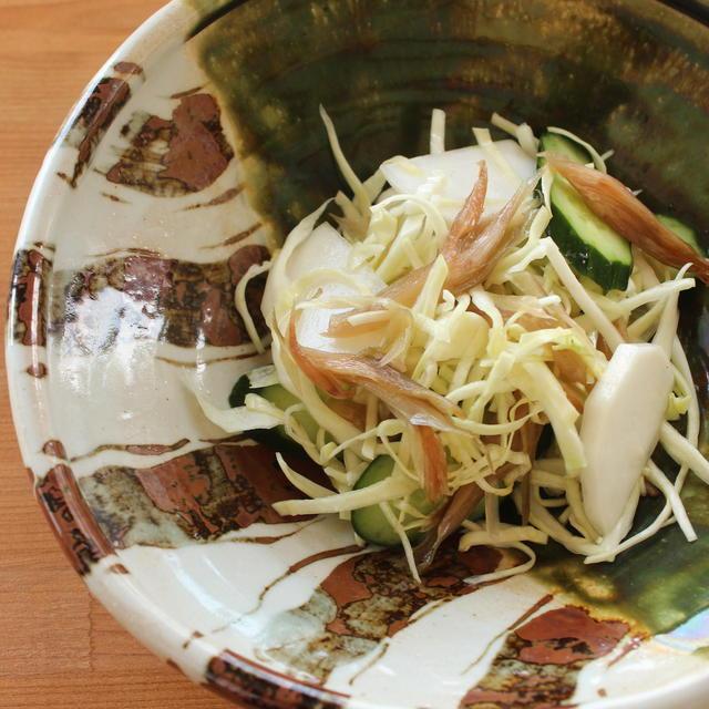 2020/04/28 茗荷の甘酢漬けサラダ